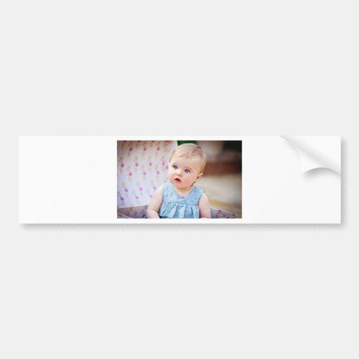 Blue-Eyed Baby Girl Bumper Sticker