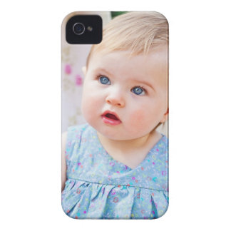 Blue-Eyed Baby Girl iPhone 4 Case-Mate Cases