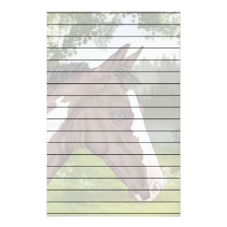 Blue Eyed Bay Tobiano Paint Horse Foal Print Stationery