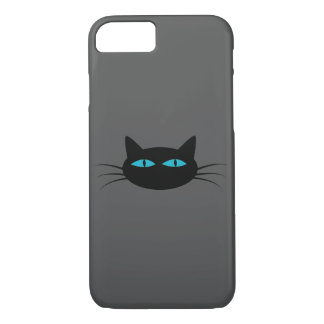 Blue-Eyed Black Cat iPhone 7 Case