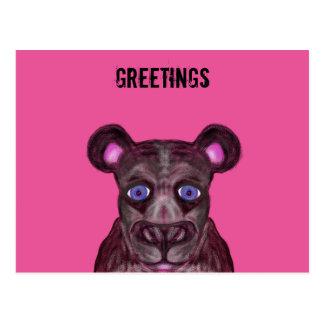 Blue eyed black Jaguar Postcard