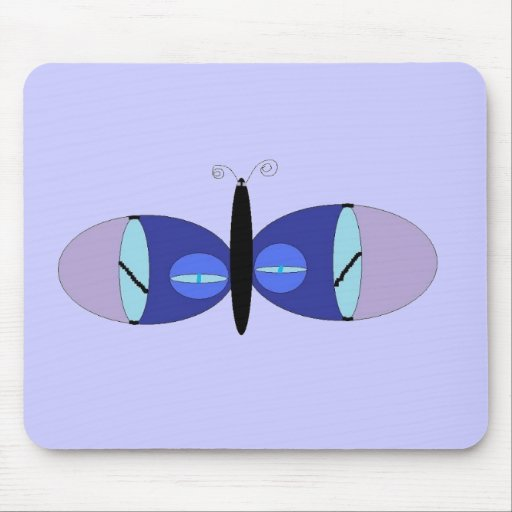 Blue Eyed Butterfly Mouse Mat