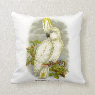 Blue-Eyed Cockatoo Throw Pillow