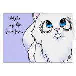 Blue Eyed Cutie Face Kitten Greeting Card
