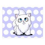 Blue Eyed Cutie Face Kitten Post Card
