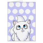Blue Eyed Cutie Face Kitten Stationery Note Card