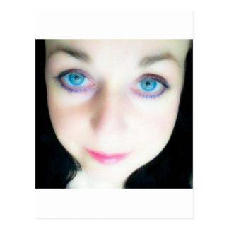 blue eyed cutie postcard