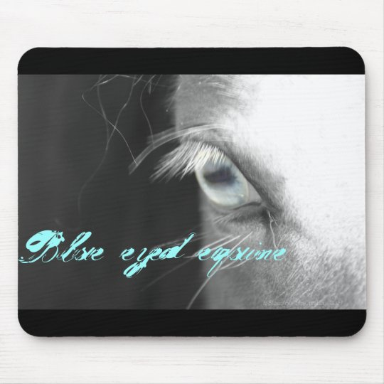 Blue eyed equine mouse mat
