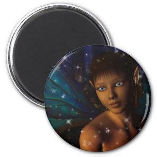 Blue Eyed Faerie 6 Cm Round Magnet