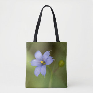 Blue-Eyed Grass Wildflower Floral Tote Bag