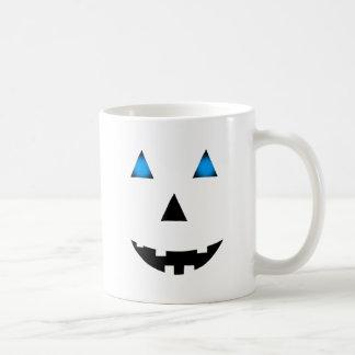 Blue Eyed Jack-O-Lantern Basic White Mug