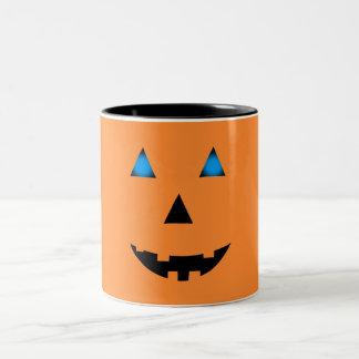 Blue Eyed Jack-O-Lantern Two-Tone Mug