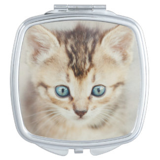 Blue Eyed Kitty Compact Mirror