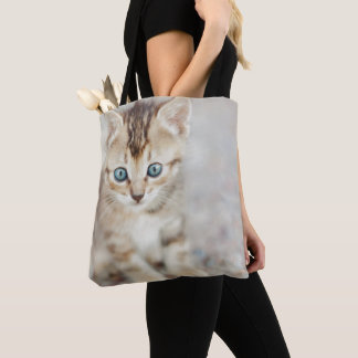 Blue Eyed Kitty Tote Bag