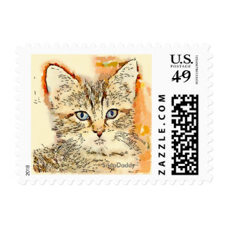 Blue Eyed Kitty US Postage Stamps