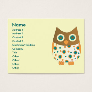 Blue-Eyed Owl Business Card