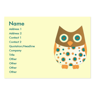 Blue-Eyed Owl Pack Of Chubby Business Cards