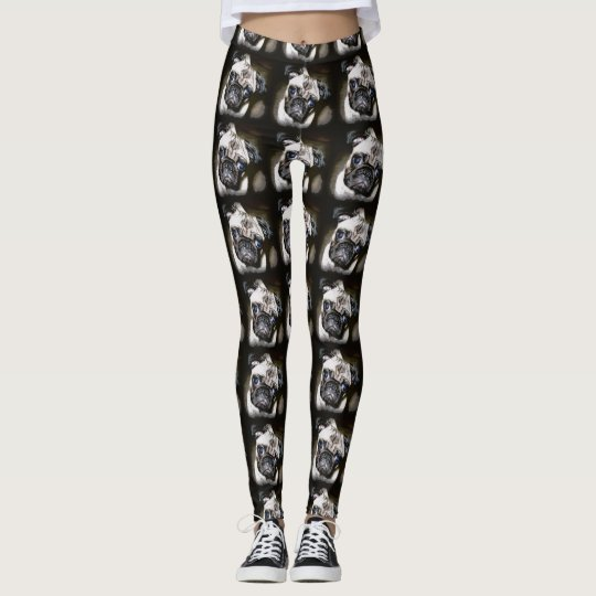 blue-eyed pugs black leggings