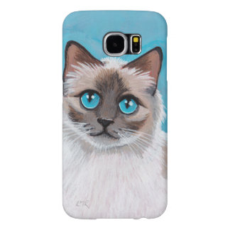 Blue Eyed Ragdoll Cat Portrait