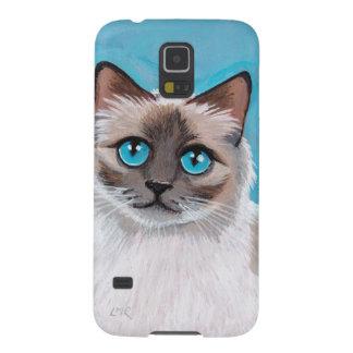 Blue Eyed Ragdoll Cat Portrait Galaxy S5 Cases