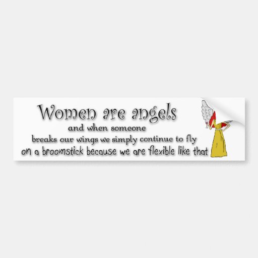 Blue Eyed Red Haired Women Are Angels Bumper Stickers