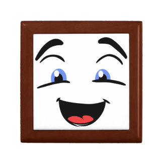 BLUE EYED SMILEY SMALL SQUARE GIFT BOX
