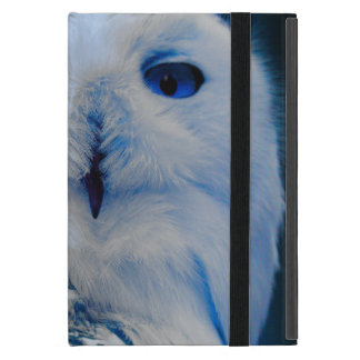 Blue Eyed Snow Owl Cover For iPad Mini