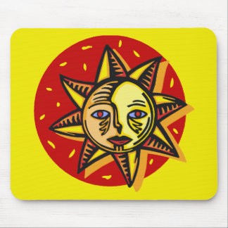 Blue Eyed Sun Mousepads