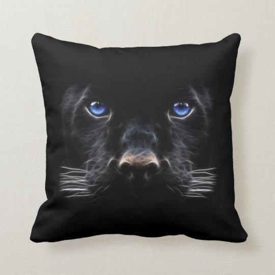 Blue Eyes Black Panther Cushion