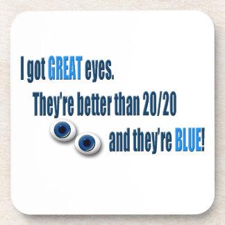 Blue Eyes Beverage Coasters