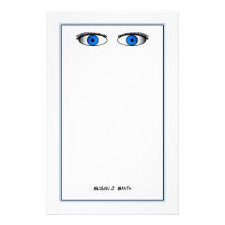 Blue Eyes Customised Stationery