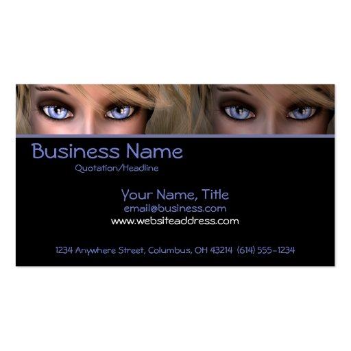 Blue Eyes D2 - Fantasy Business Cards