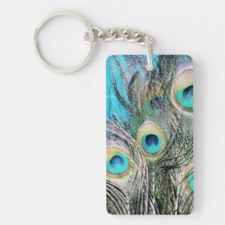 Blue Eyes Double-Sided Rectangular Acrylic Key Ring