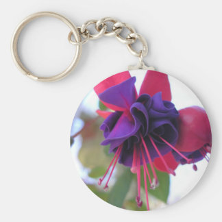 Blue Eyes Fuchsia Keychain