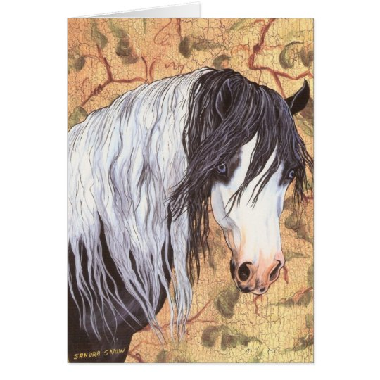 Blue Eyes, Gypsy Horse Card