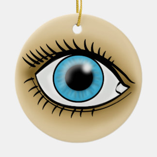 Blue Eyes icon Christmas Ornament