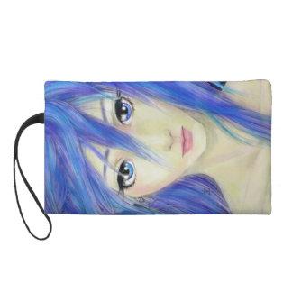 Blue Eyes Message Wristlet