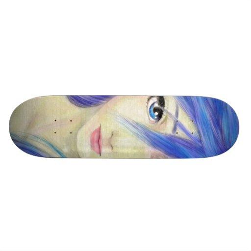 Blue Eyes Message Skate Deck