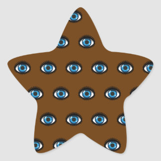 Blue eyes star stickers
