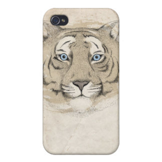 Blue eyes Tiger iPhone 4 Case