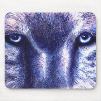 Blue Eyes Wolf Mouse Pad