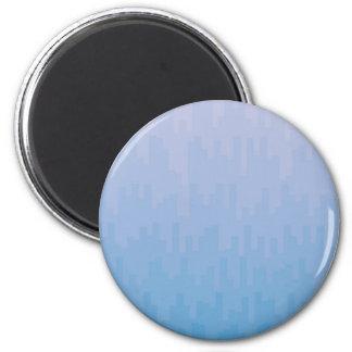 Blue Fade 6 Cm Round Magnet