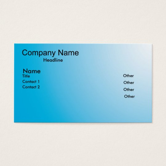 blue fade business card