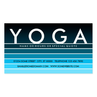 blue fade YOGA Pack Of Standard Business Cards