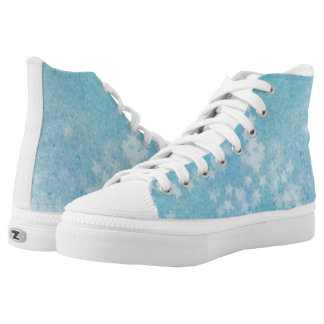 Blue faded stars high tops