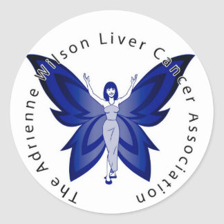 Blue Faery Round Sticker
