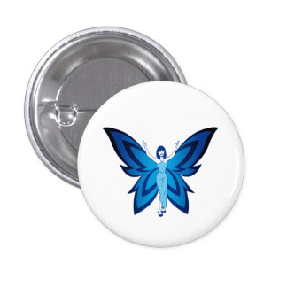 Blue Faery small round pin (other sizes available)