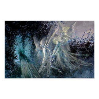 Blue Fairies Poster