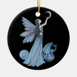 Blue Fairy and Dragon Ornament