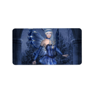 Blue fairy and lamplighter address label